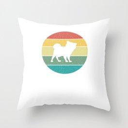 Shiba Inu Retro Vintage Gift Idea Throw Pillow