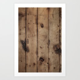Burnt WoodGrain Art Print
