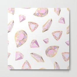 pink and gold gemstones Metal Print
