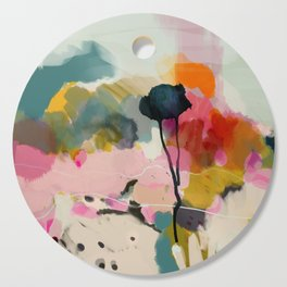 paysage abstract Cutting Board