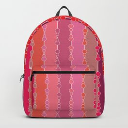 Multi-faceted decorative lines Backpack