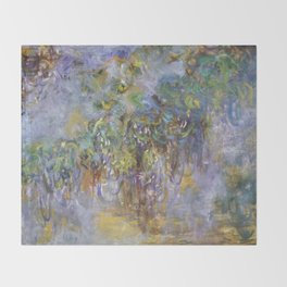 "Claude Monet ""Wisteria"", 1919-1920 Throw Blanket"