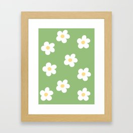 Retro 60's Flower Power Print Framed Art Print