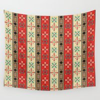 blanket Wall Tapestries featuring Sioux Blanket by Robin Curtiss