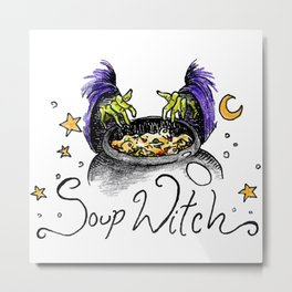 Soup Witch Metal Print