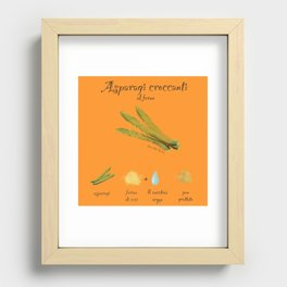 Ricetta Asparagi Recessed Framed Print