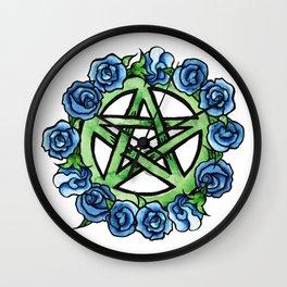 Wiccan Pentagram art Wall Clock