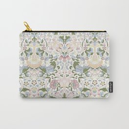 William Morris Pastel Pink Lotus Flower Pattern Carry-All Pouch