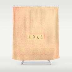 Love from a distance  Shower Curtain