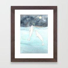 Beluga love Framed Art Print