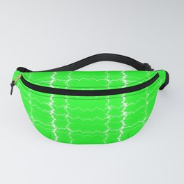 jagged, green Fanny Pack