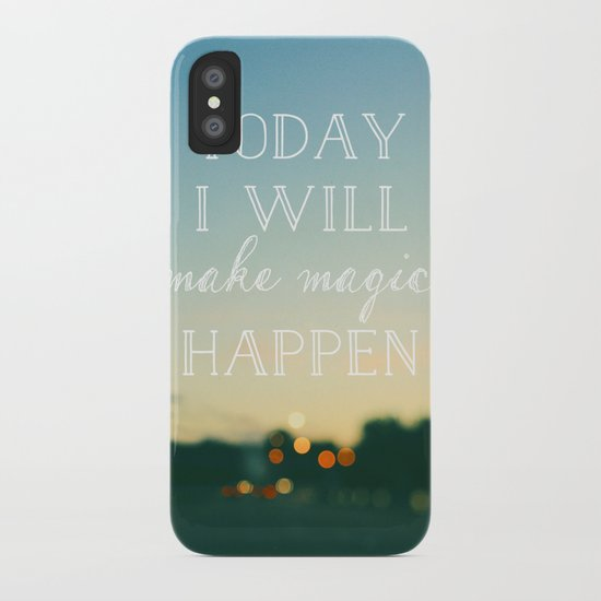 Today I Will Make Magic iPhone Case