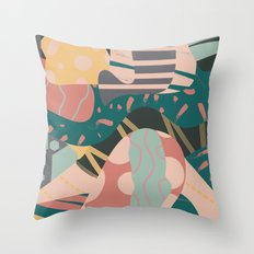 Tribal pastels Throw Pillow