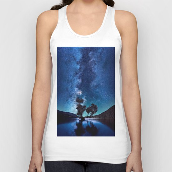 The World Above (Perfect Night Sky with Stars) Unisex Tank Top