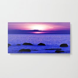 Dusk on the Saint-Lawrence Metal Print