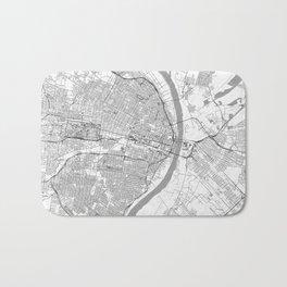 St Louis Map Line Bath Mat