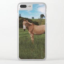 Donkey Animal Clear iPhone Case