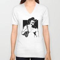 cowboy V-neck T-shirts featuring Cowboy by Fast Drip