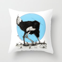 Ostrich Sun Throw Pillow