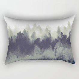 Mountain Forest Abstract Rectangular Pillow