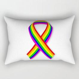 LGBT Awareness Ribbon Rectangular Pillow