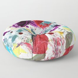 Funky painted mess Floor Pillow