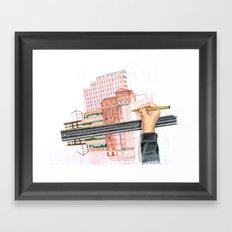 Drawing reflections Framed Art Print