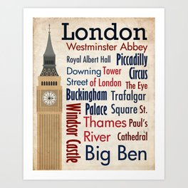 Travel - London Art Print