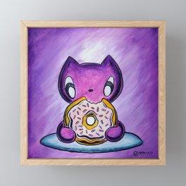 Skribbles: Because Doughnut Framed Mini Art Print
