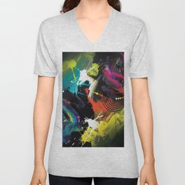Abstract Art Britto - QB291 Unisex V-Neck