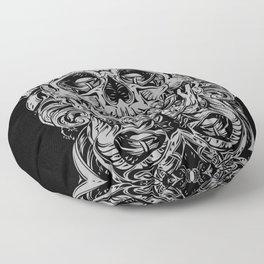 2 FACES SKULL Floor Pillow
