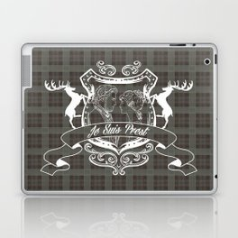 Outlander plaid with Je Suis Prest crest Laptop & iPad Skin