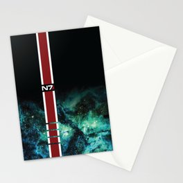 Galaxy Armor Stripe Stationery Cards