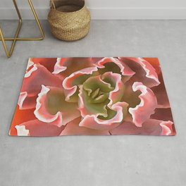 Living Coral Succulent Rug