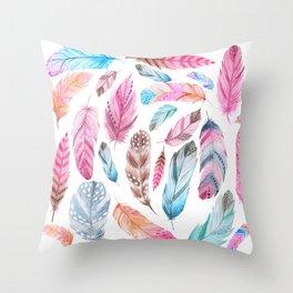 Watercolor coton Throw Pillow