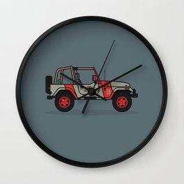 Jurassic Park Jeep Wall Clock