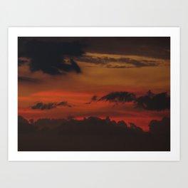 A Sky On Fire - 2 Art Print