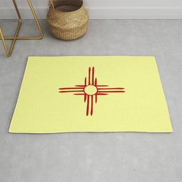 Flag of new mexico hand drawn 1 Rug