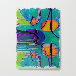 Colorful reflections abstract Metal Print