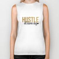 hustle Biker Tanks featuring Hustle by OhSoFabulous