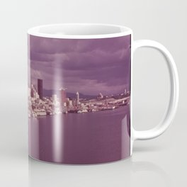 SEATTLE AND ELLIOTT BAY SEEN FROM THE AIR. THE WATER OF ELLIOTT BAY IS REPORTEDLY THE CLEANEST OF Coffee Mug