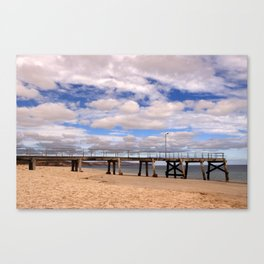 The Pier at Normanville Canvas Print