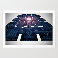 tron Art Prints featuring TRON by Erik Anarchie