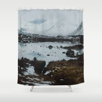 scotland Shower Curtains featuring Glencoe, Scotland by Diana Eastman