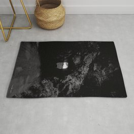 Mammoth Cave - Black and White Rug