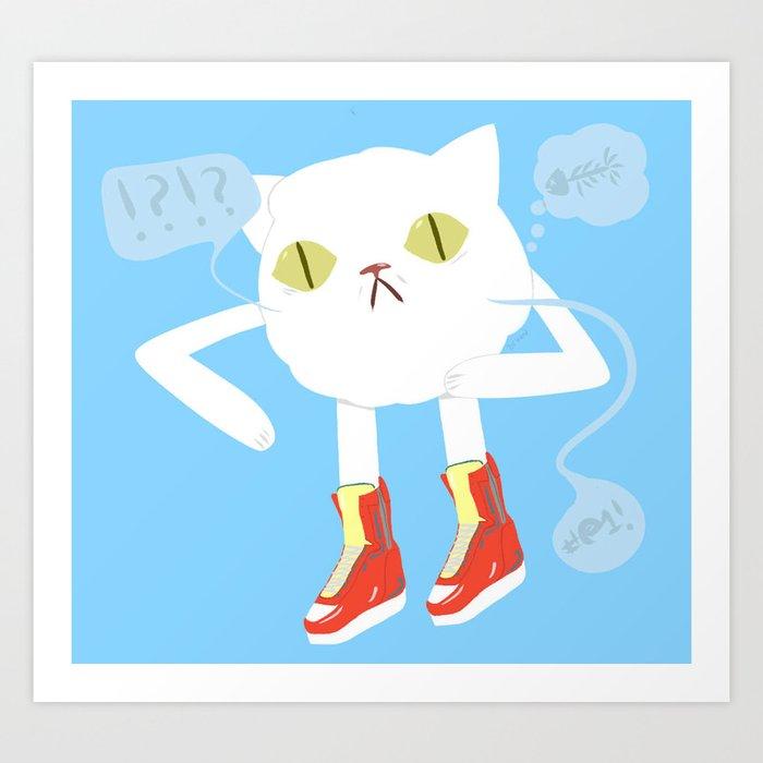 A Normal Cat Art Print