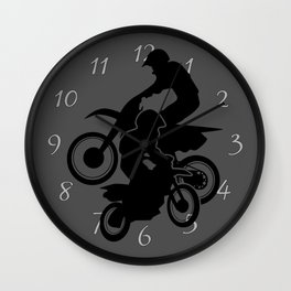 Motocross Dirt Bikes Off-road Motorcycle Racing Wall Clock