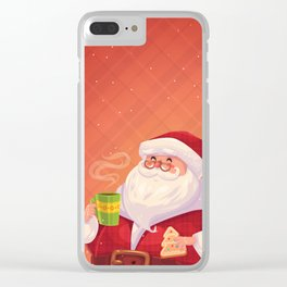 Santa on vacation Clear iPhone Case