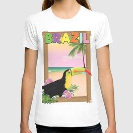 Brazil toucan travel poster T-shirt