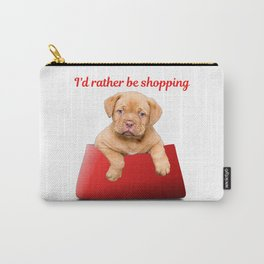 Cute Shopping Puppy Purse Gifts Carry-All Pouch